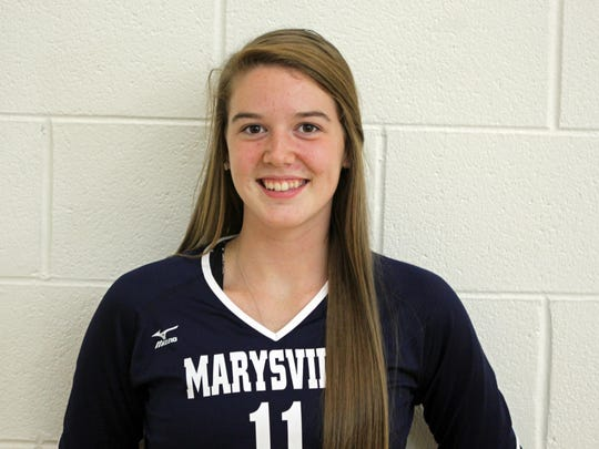 6. Devan Valko, Marysville: It might be a surprise to some to find the Vikings junior setter this high on the list. But consider for a moment just how improved the team is from a season ago and you will soon understand just how valuable Valko is to the Vikings. She has taken pressure off of Bastianelli and has helped rejuvenate the entire program with her play.