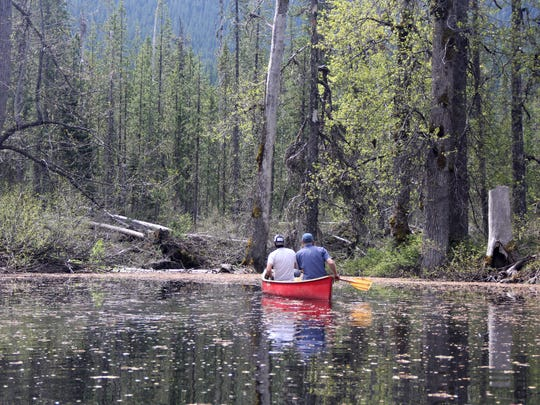 "South Prairie, located in southern Washington's Gifford Pinchot National Forest, is home to a ""disappearing lake"" where canoeists like Portland's Jared Kennedy and Walt Holland can paddle around large cottonwoods and aspen trees sticking up through the water in a setting that resembles a bayou. South Prairie fills with water in spring to become an almost six foot deep lake, but becomes a totally dry meadow by summer."