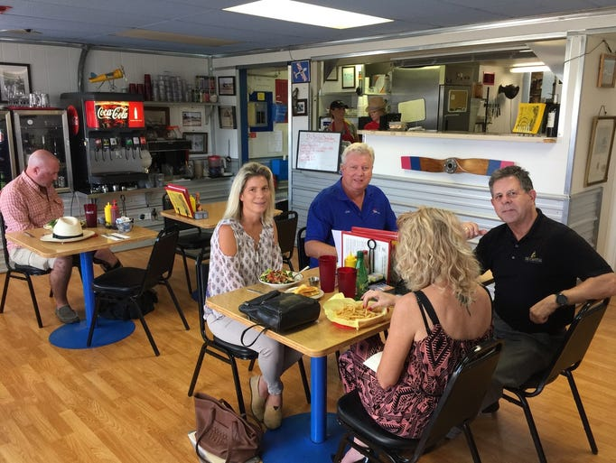 Lunchtime diners at the aviation-themed Benton Air