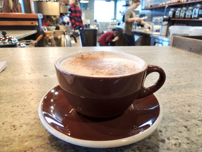 "The ""Firecracker"" chai latte at Heritage Roasting Company"