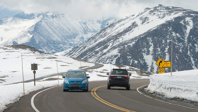Trail Ridge Road has closed to through traffic for the season. It usually reopens the first week of May.