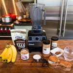 "All the ingredients for the Chocolate Superfood ""Mylk"" Shake"