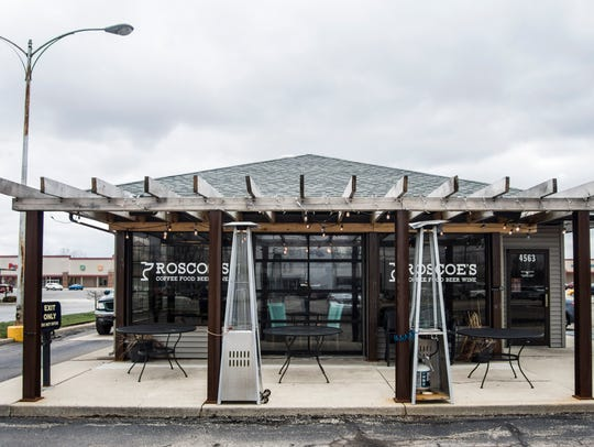 The front of the east-side Roscoe's Coffee Bar & Taproom