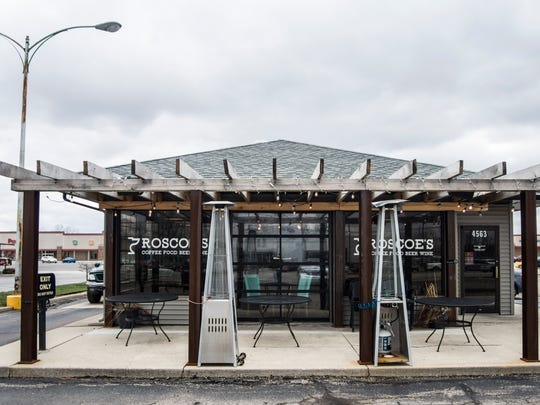 The front of the east-side Roscoe's Coffee Bar & Taproom is seen April 4, 2018.