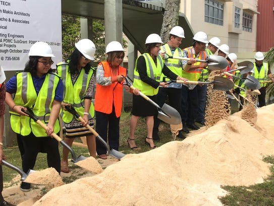 The Guam Community College broke ground Wednesday morning