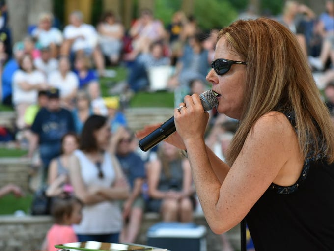 Opening night of the Summer Concert Series, downtown