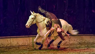 """The $30 million touring production of """"Odysseo"""" — which boasts 65 gorgeous horses, along with 50 multi-talented riders, acrobats, dancers and musicians — will make its Tennessee debut under the company's signature """"White Big Top"""" in Nashville, beginning Aug.30."""