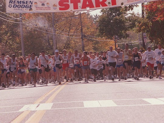The start of the Great Race 5K in 2001
