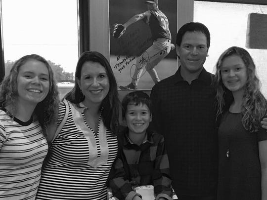 Pro golfer Briny Baird with his family, wife Laura, daughter Madison (15), daughter Taylor (13) and son Brody (10).