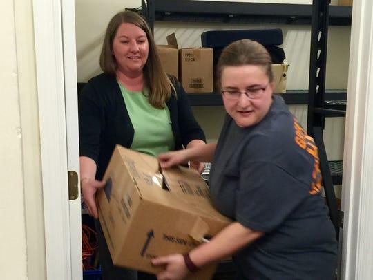 Lindsey Megginson and Lidia Williams volunteered on