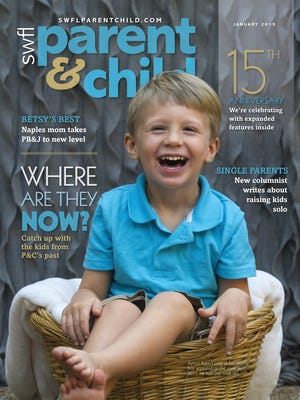 Ayrton Robert Luce of Fort Myers was just one week old when he first appeared on the cover of SWFL Parent & Child in October 2011. We tracked down Ayrton and others who have appeared on P&C's pages over the years for a where-are-they-now feature in our January 2015 issue celebrating our 15th anniversary.