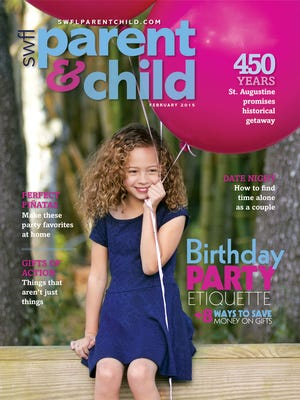 Jiselle Roselyn Gonzalez, 6, of Naples models for the February cover at Koreshan State Historic Site in Estero.