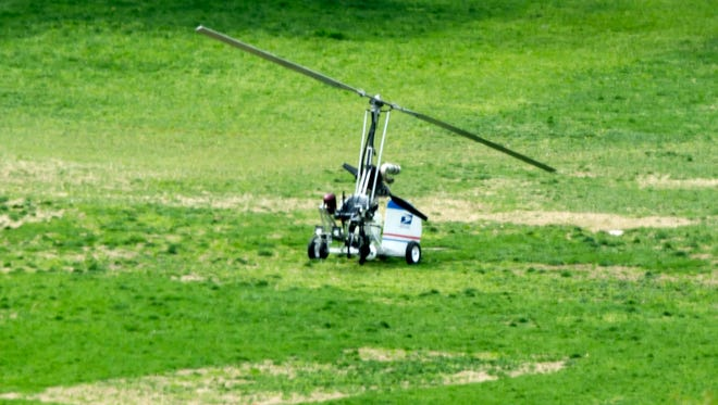 A gyrocopter landed on the west lawn of the U.S. Capitol in Washington on April 15, 2015. Police have arrested the pilot.