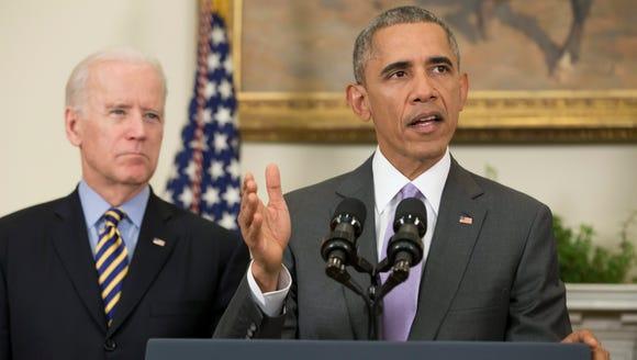 President Obama delivers a statement on the legislation