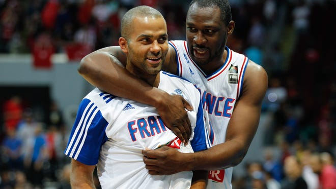 Tony Parker (left) helped lead France to spot in the Rio Olympics.