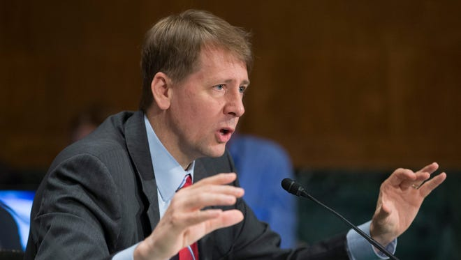 Richard Cordray, director of the Consumer Financial Protection Bureau, testifies before the Senate Banking, Housing and Urban Affairs Committee hearing on 'An Examination of Wells Fargo's Unauthorized Accounts and the Regulatory Response', on Capitol Hill in Washington, DC on Sept. 20, 2016.  EPA/MICHAEL REYNOLDS ORG XMIT: MR15