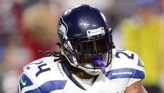 Seattle Seahawks running back Marshawn Lynch has rushed for 12 touchdowns this season.