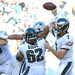 Eagles quarterback Sam Bradford has turned the ball over five times in two games.