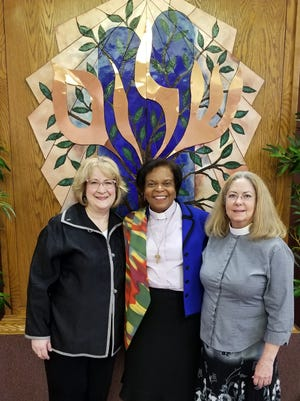 Women of faith (from left) Pastor Debbie Vann, the Rev. Rosalie Norman McNaney and Rabbi Cantor Patricia Hickman have joined forces to deliver an inter-faith event at Temple Israel in Viera on Dec. 3.