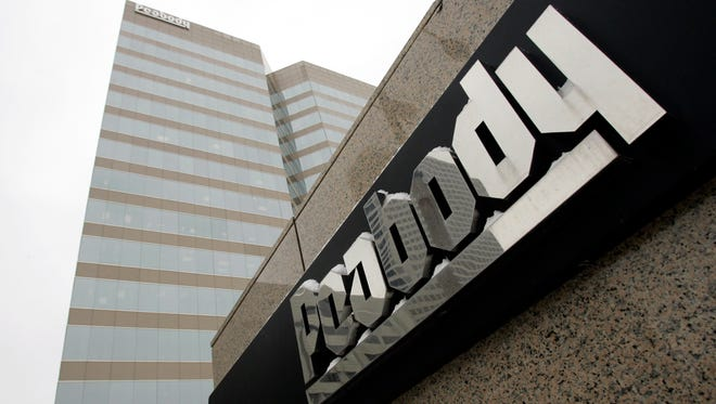 This Jan. 27, 2009 photo shows the Peabody Energy headquarters building in St. Louis, Missouri. A federal judge in St. Louis on Wednesday, July 20, 2016, agreed to let Peabody Energy go ahead and pay nearly $30 million in property taxes in four states while the coal company goes through bankruptcy reorganization.