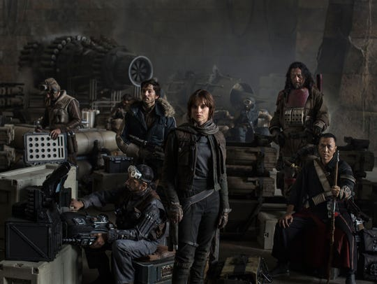 "The rebel crew in ""Rogue One: A Star Wars Story."""