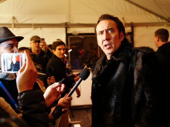 Nicolas Cage hits the red carpet for 'Mandy' in Park