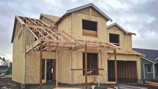 New house under construction.