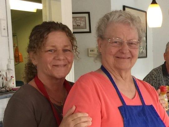 Grandma's Diner owner Virginia McDonald with her mother,