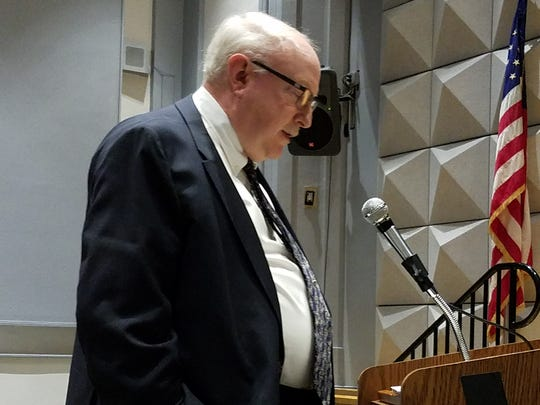 David Branan, who served 12 years on the North Plainfield Board of Education, submitted his resignation in a dramatic move before the board voted Wednesday night not to renew the contract of Superintendent of Schools James McLaughlin. Branan spoke before the vote.