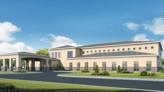 A rendering of Sacred Heart Health System's planned medical park for the Milestone area of Escambia County.
