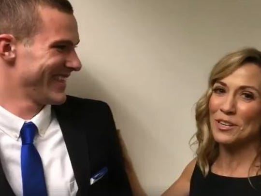 Noah Jack Cummins meets Sheryl Crow for the first time