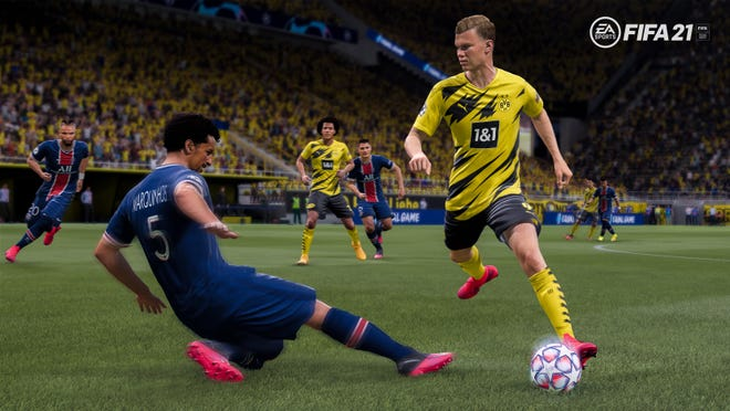 A screenshot from the FIFA 21 video game by Electronic Arts.