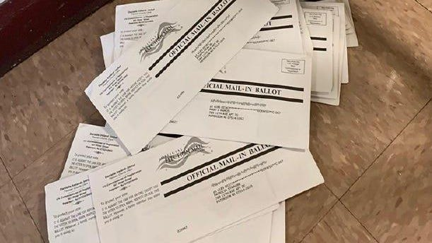 Mail-in ballots from the Passaic County primary election.