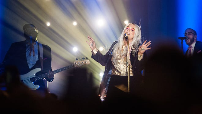 Kesha performs at a sold-out Eagles Ballroom at the Rave Thursday.