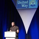 """Former USC Gamecock and San Francisco 49ers running back Marcus Lattimore encouraged United Way supporters in Greenville to help the organization continue its Cycle of Success cycle."""" Lattimore was the keynote speaker at United Way's 2015 Community Campaign kickoff Tuesday."""