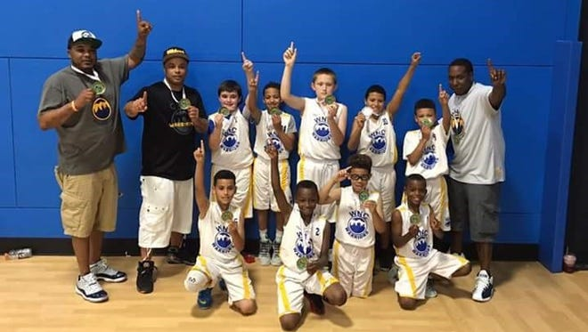 The Western North Carolina Warriors third-grade elite team won its age division at last weekend's Jet Jam basketball tournament hosted by the Xcel Sportsplex.