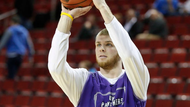 Northern Iowa forward Seth Tuttle during practice at KeyArena.