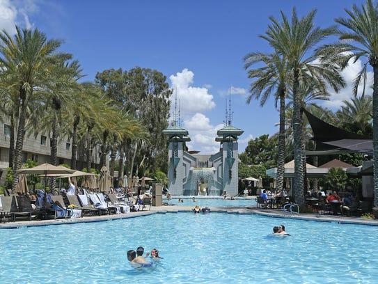 The Paradise Pool at the Arizona Biltmore Sunday, May