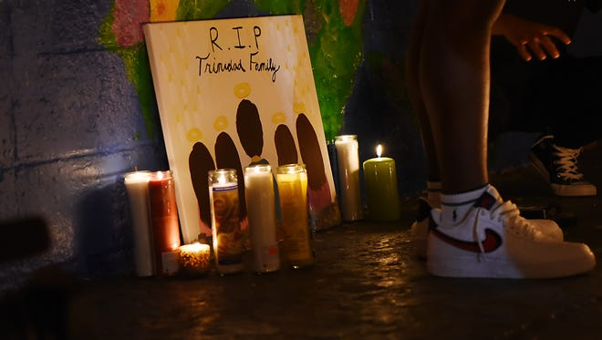 Vigil for Trinidad family at Votee Park in Teaneck on Saturday July 07, 2018. Audie Trinidad and his four daughters: Kaitlyn, 20; Danna, 17; and Melissa and Allison, 13-year-old twins, were killed in a automobile crash on Friday in Delaware.