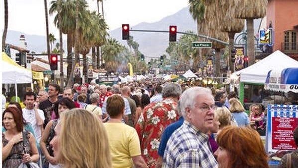 Desert Sun file photo: VillageFest attendees gather in downtown Palm Springs