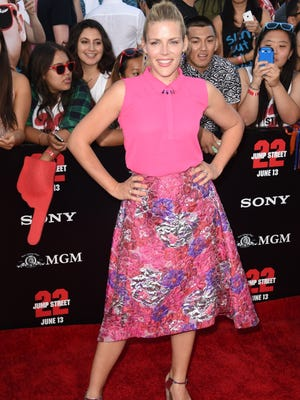 """NOT-SO-HOT: Actress Busy Philipps arrives for the world premiere of """"22 Jump Street"""" at the Regency Village Theatre in Los Angeles on June 10, 2014."""