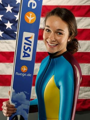 Women's ski jumper Sarah Hendrickson has returned to training five months after major knee surgery.