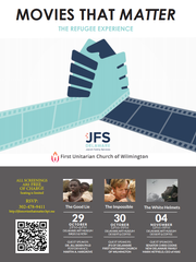 An advertisement for a movie series hosted by Jewish Family Services of Delaware