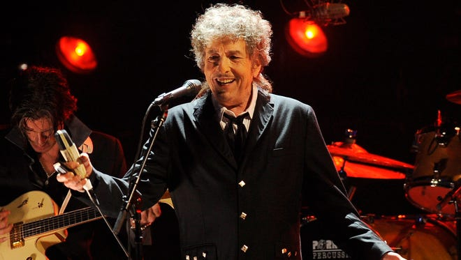 Bob Dylan, shown performing in Los Angeles in 2012, was named the winner of the 2016 Nobel Prize in literature in October.