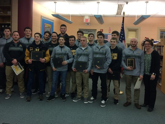 The Cedar Grove High School wrestling team was recognized at a Tuesday, March 28, 2017 Board of Education meeting.