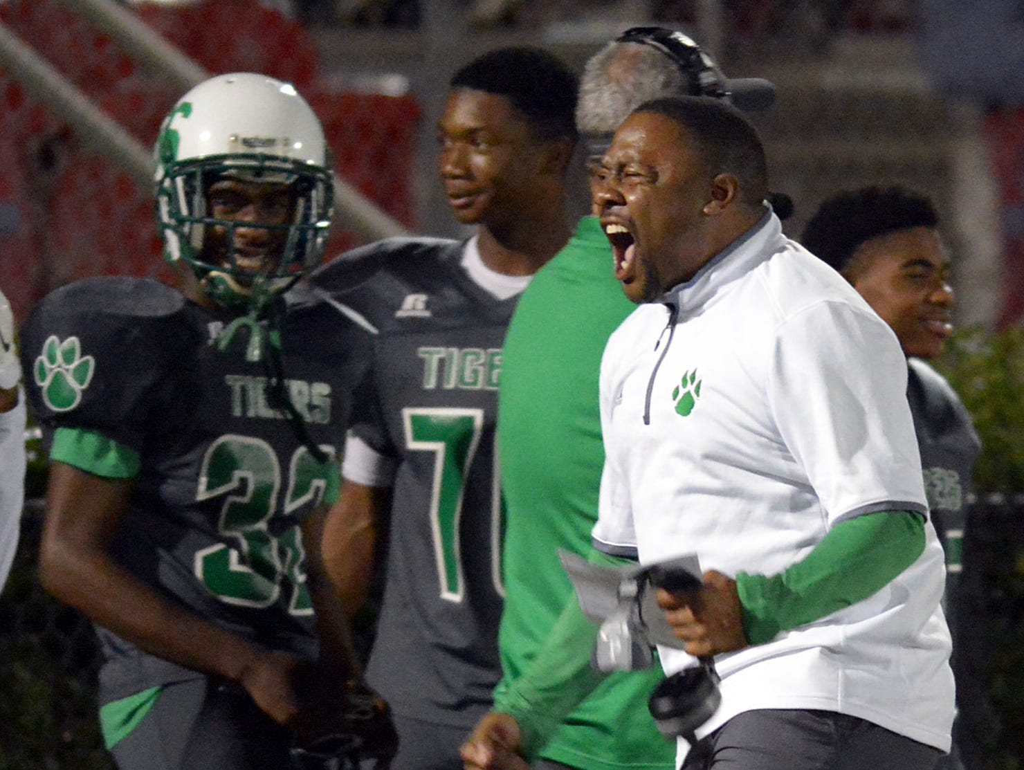 Collins head coach Ryan Earnest will lead his team into Friday's home game against West Marion for the Class 3A South State Championship.