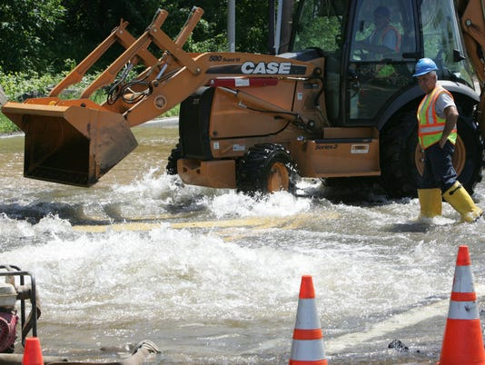 WATER MAIN BREAK: