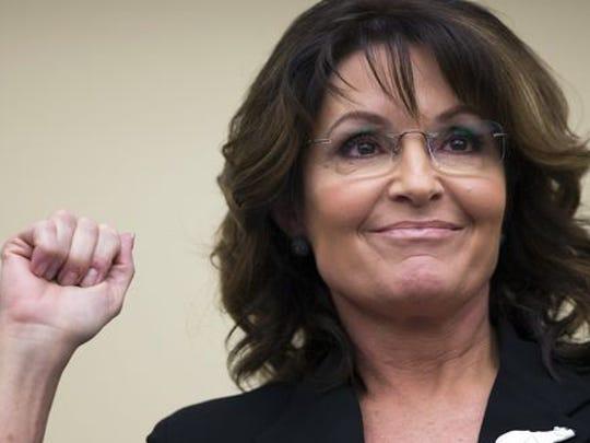 Former Gov. Sarah Palin, R-Alaska.
