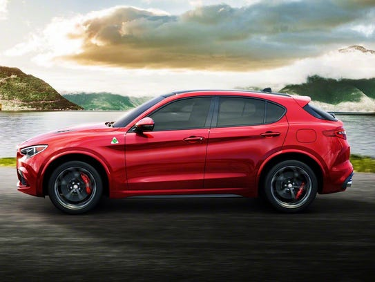 Luxury buyers are looking at Alfa's Stelvio, above,