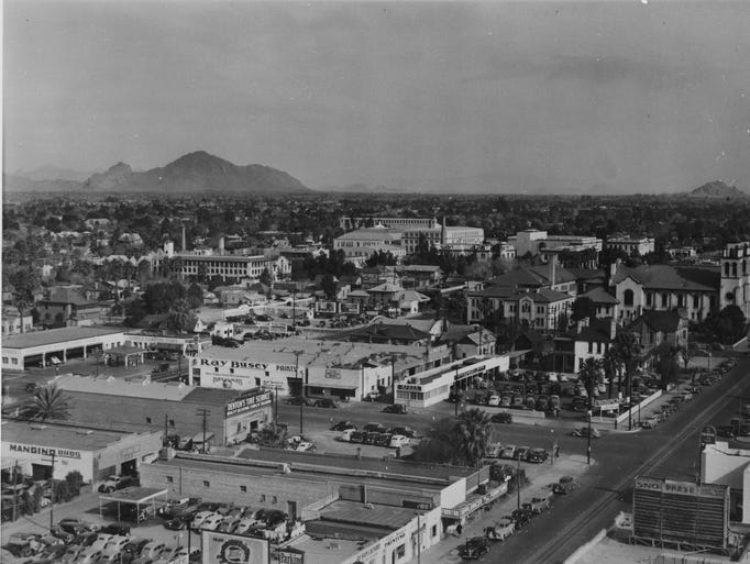 The view of Phoenix from the early 1940s.